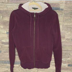 Eddie Bauer • Sherpa lined zip up hoodie